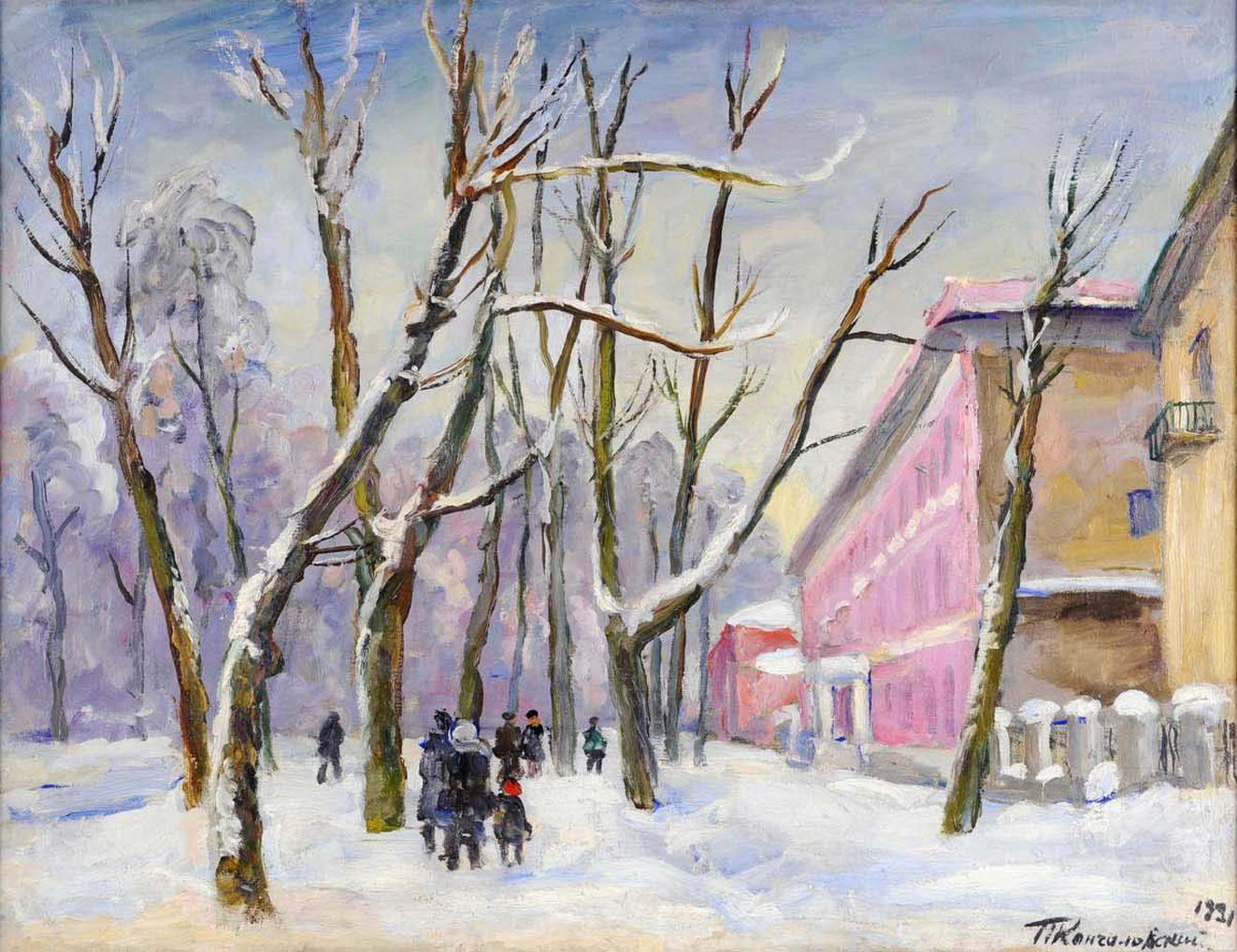 Петр Кончаловский. Большая Садовая. Розовый дом. 1931