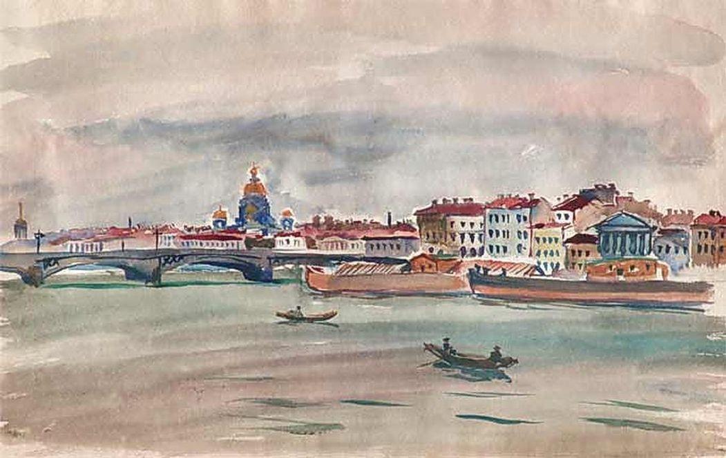 Петр Кончаловский. Ленинград. Нева. 1931
