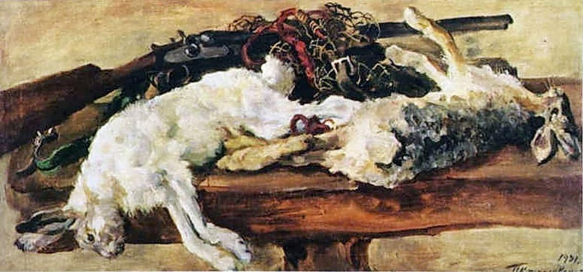 Петр Кончаловский. Натюрморт. Два зайца. 1931
