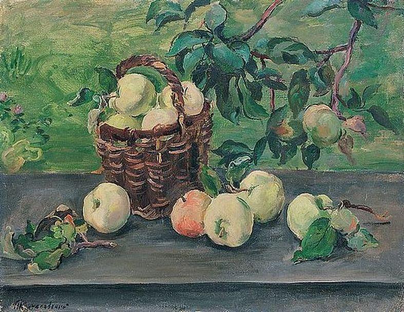 Петр Кончаловский. Яблоки на окне. 1932