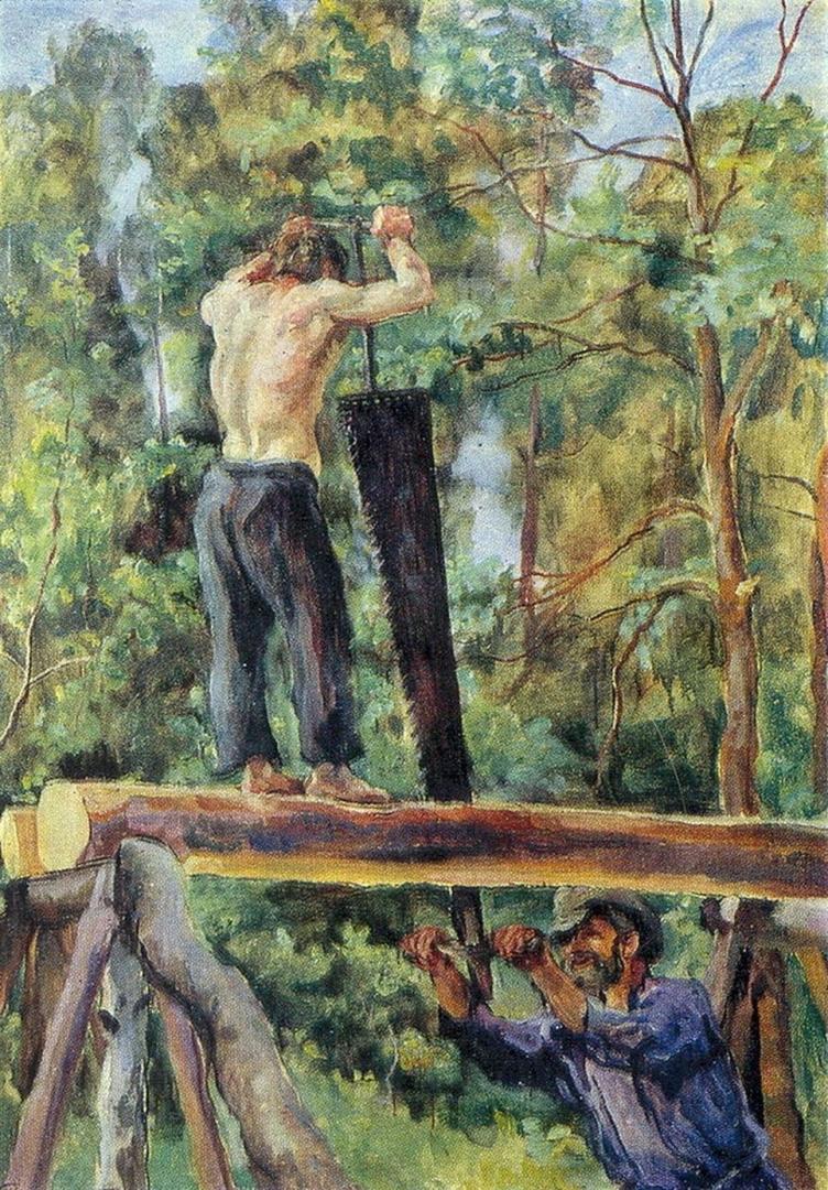 Петр Кончаловский. Пильщики. 1932