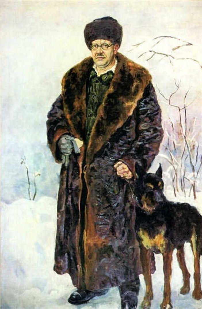 Петр Кончаловский. Автопортрет с собакой. 1933