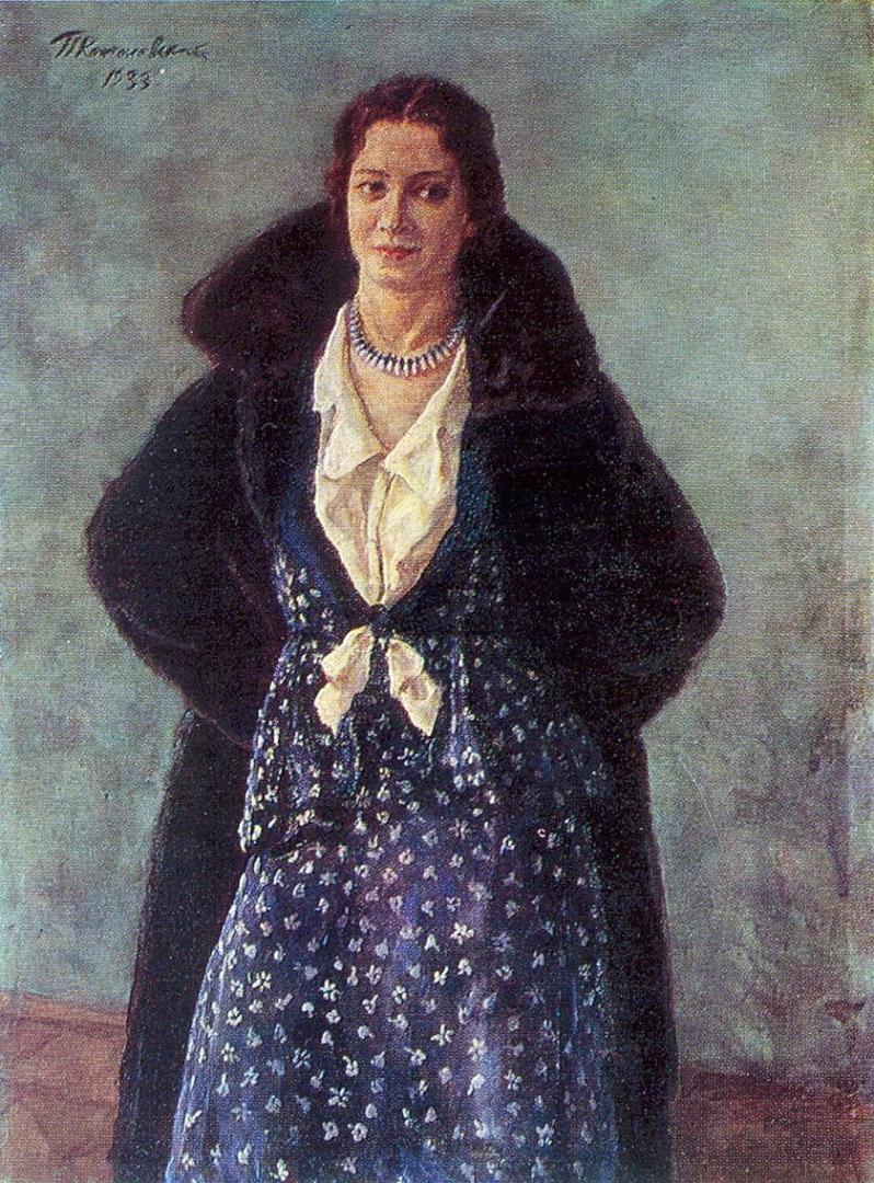Петр Кончаловский. Портрет артистки Ангелины Осиповны Степановой. 1933