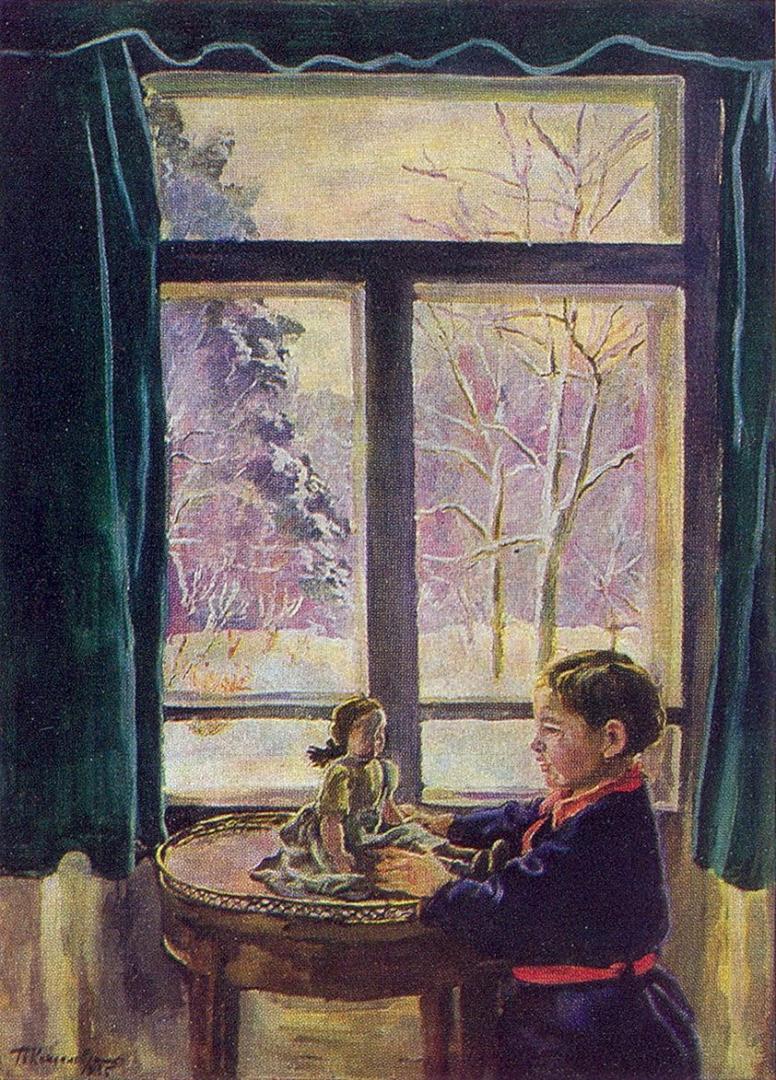 Петр Кончаловский. Катенька у окна. 1935