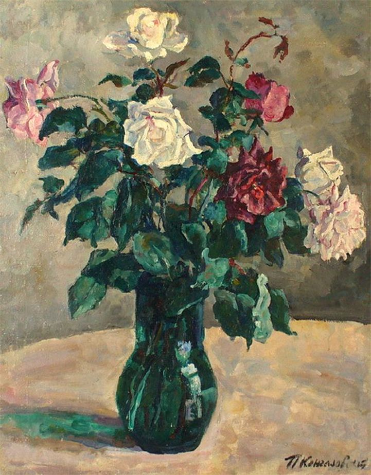 Петр Кончаловский. Розы в кувшине. 1936