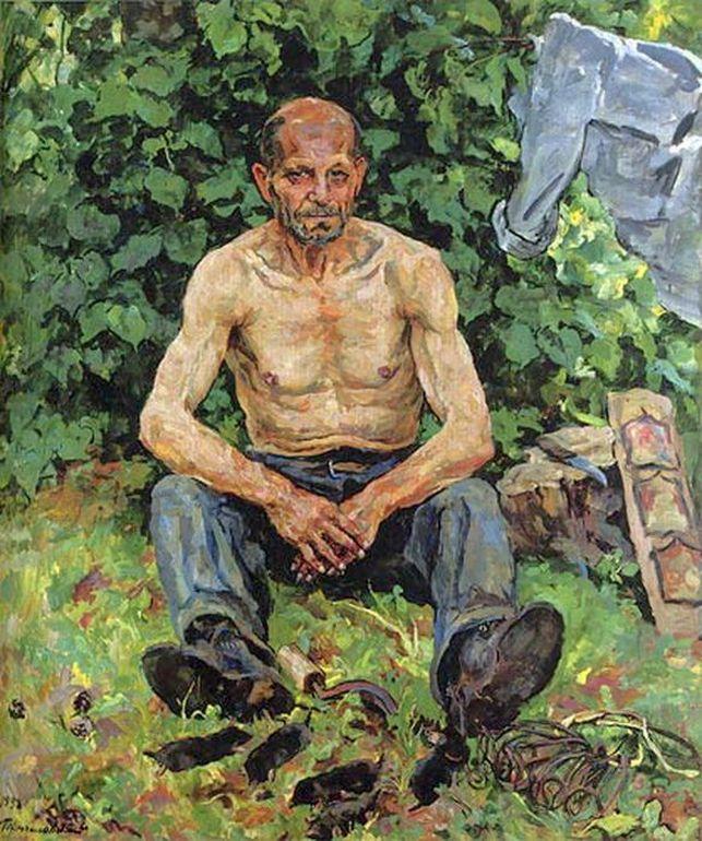 Петр Кончаловский. Портрет кротолова Федора Петровича. 1938