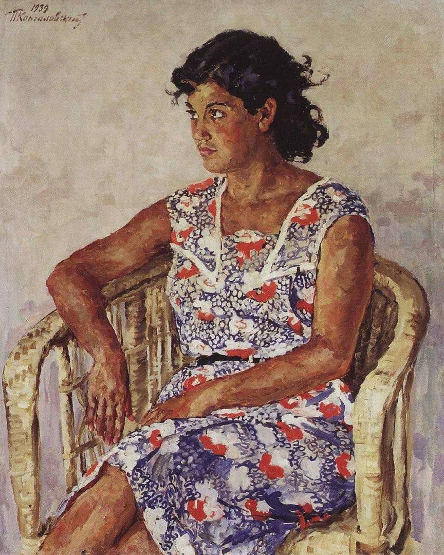 Петр Кончаловский. Портрет девушки-испанки Хулиты Перикаччо. 1939