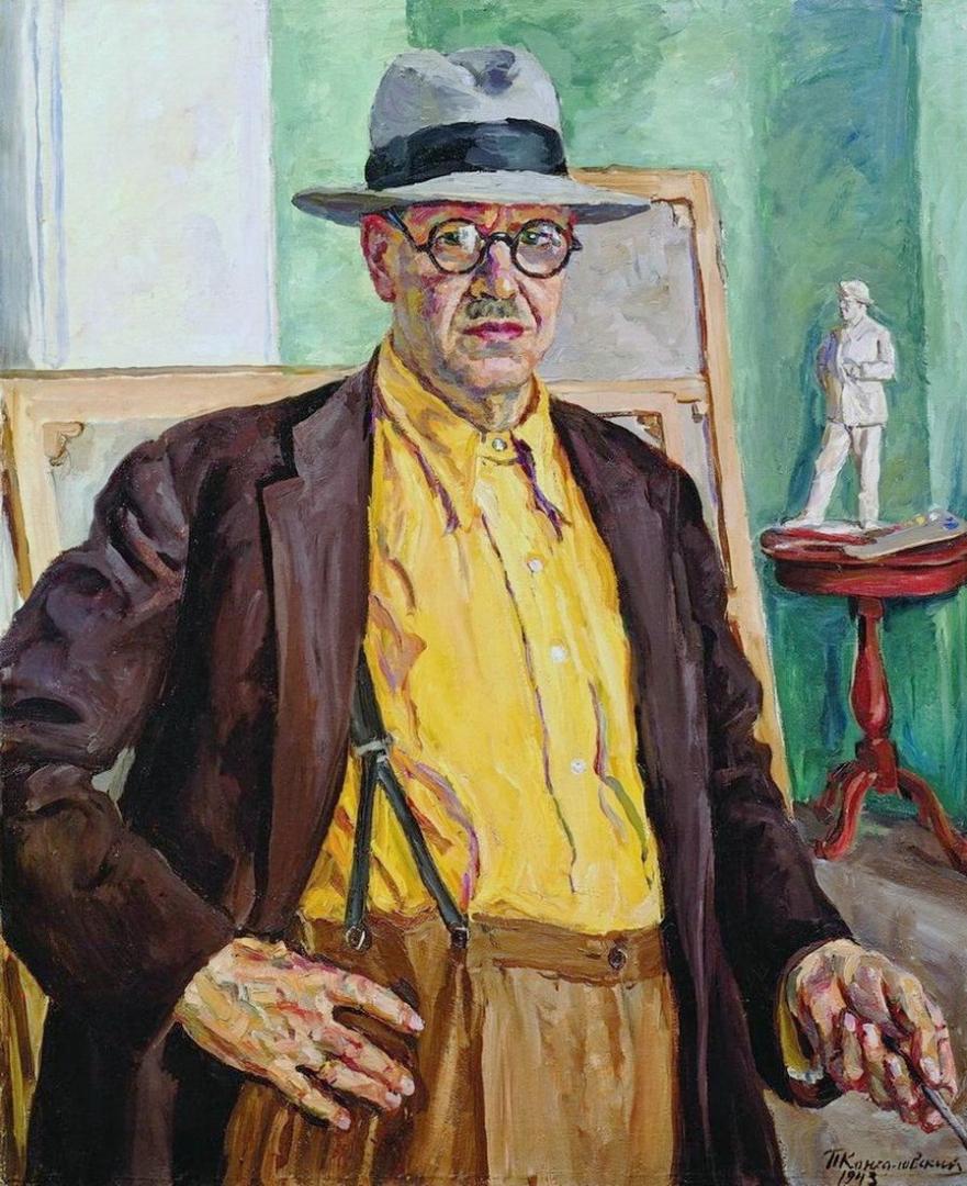 Петр Кончаловский. Автопортрет (в желтой рубашке. 1943