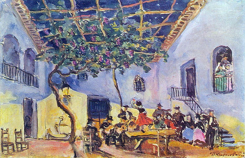 Петр Кончаловский. Эскиз декорации к опере Бизе Кармен. 1944