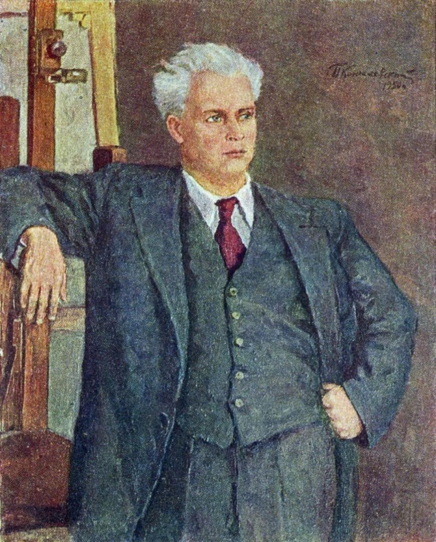 Петр Кончаловский. Портрет кинорежиссера Александра Петровича Довженко. 1950