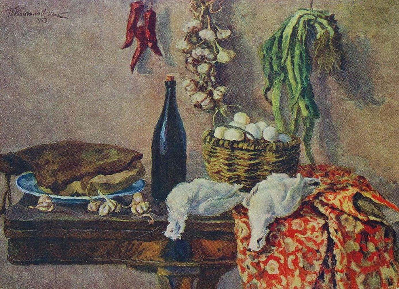 Петр Кончаловский. Натюрморт. Белые куропатки. 1953