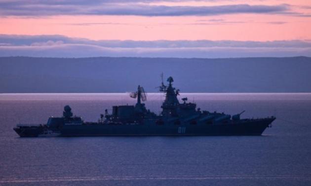 Российский военный корабль на боевом дежурстве в районе Курильских островов
