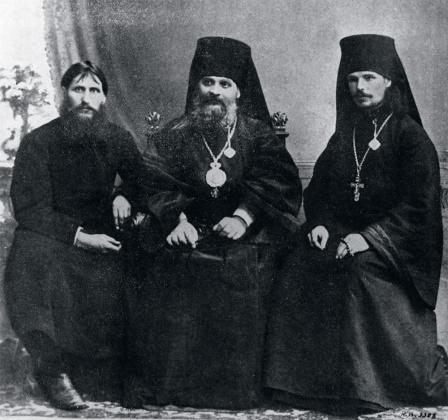 Григорий Распутин с епископом Гермогеном и иеромонахом Илиодором