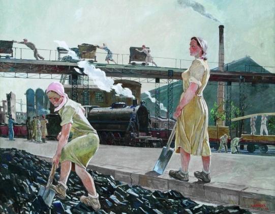 Александр Дейнека. Шахта (фрагмент). 1947