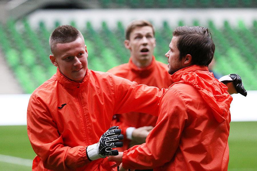 Тренировка «Урала» перед матчем с «Краснодаром»