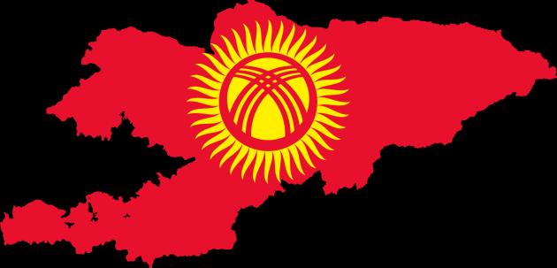 Карта-флаг Киргизии
