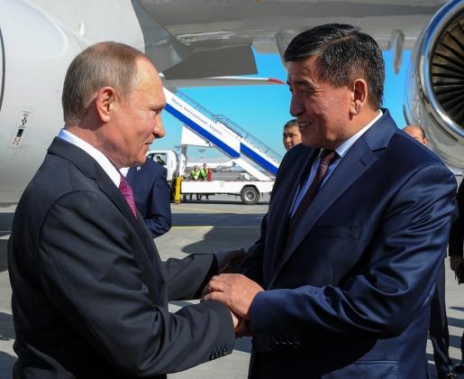 Владимир Путин во время визита в Киргизию
