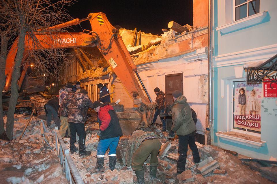 Обрушение дома в Угличе