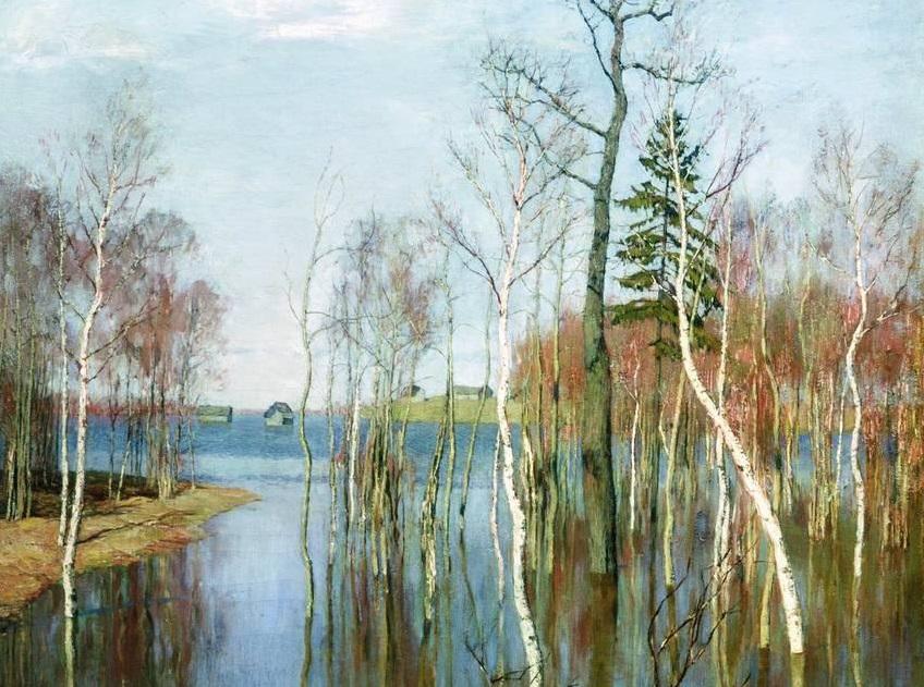 Исаак Левитан. Весна. Большая вода (фрагмент). 1897