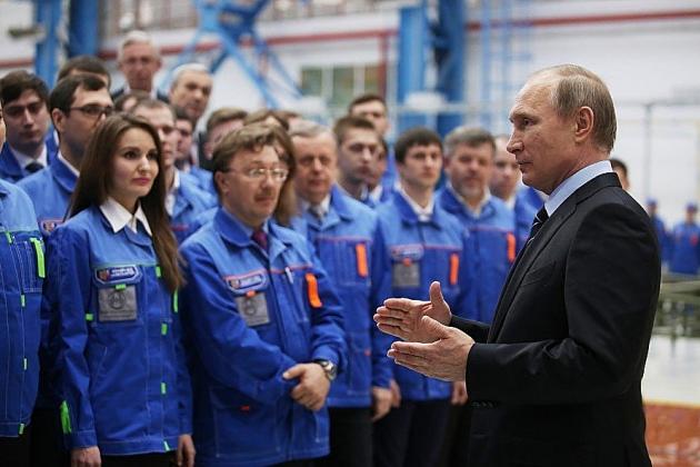 Встреча Владимира Путина с рабочими АО «Нижегородский завод 70-летия Победы», 29 марта 2016 года