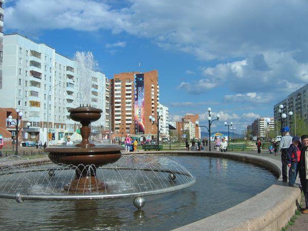 Фонтан на ул. Советской, Братск