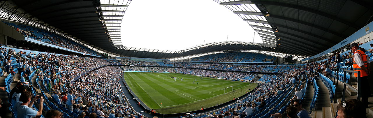 Панорама стадиона ФК Манчестер Сити