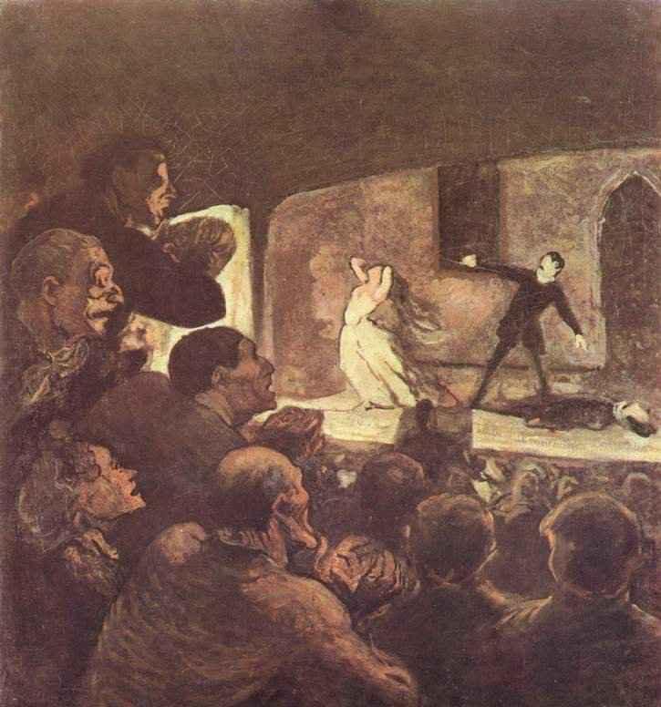 Домье, Оноре. Мелодрама. 1856—1860