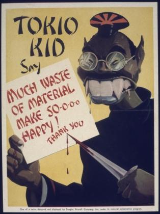 Американский антияпонский плакат