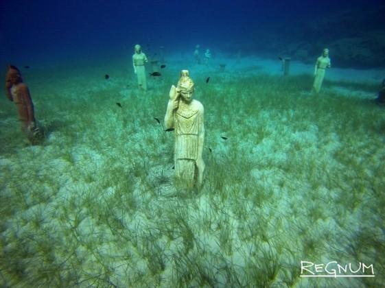 Искусственно созданный парк скульптур на Кипре
