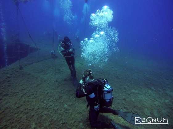 На борту затонувшего парома «Зенобия»