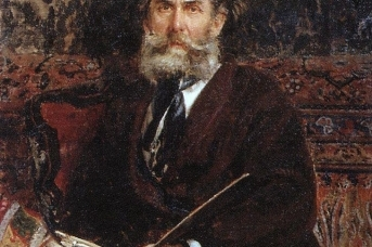 И. Е. Репин. Портрет Боголюбова, 1876 год