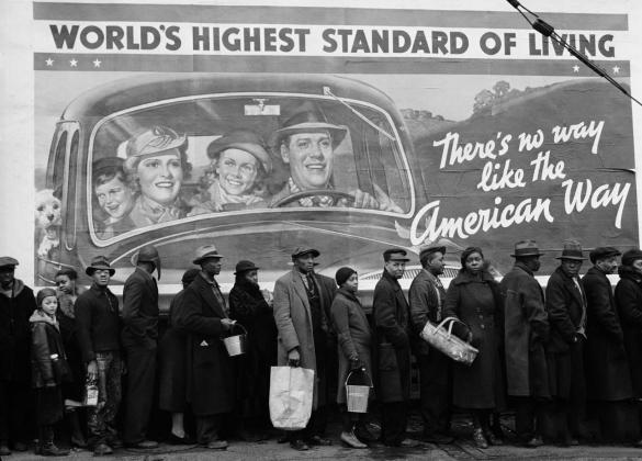 Фотография из журнала Life времен великой депрессии в США. «Высочайшие стандарты жизни»