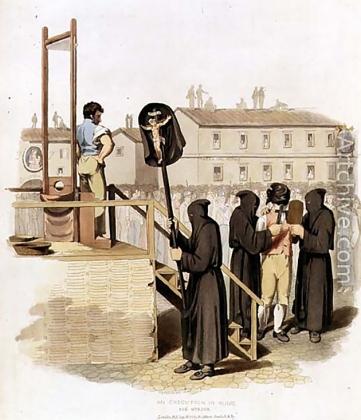 Ричард Бридженс. Казнь за убийство в Риме. 1820