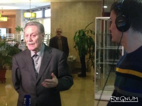 Юрий Соломин перед заседанием экспертной комиссии ОС по культуре в Минкульте РФ