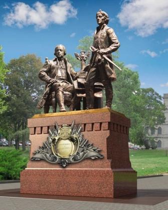 Эскиз памятника отцу и сыну Суворовым в Калининграде