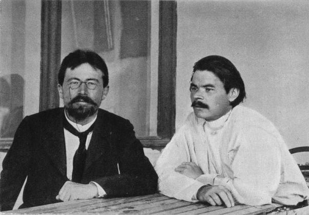 Чехов и Горький в Ялте. 1900