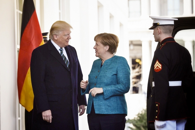 Ангела Меркель, Дональд Трамп