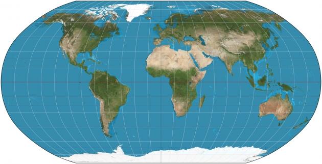 Американские школьники изучают новую карту мира