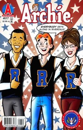 Барак Обама и Сара Пейлин на обложке Комикса Арчи