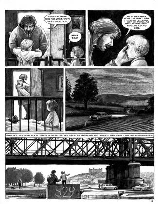 Страница из комикса, посвященного истории Чехии