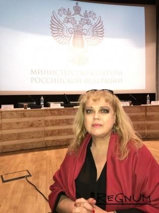 Заслуженная артистка РФ Любовь Руденко на заседании ОС по культуре в Минкульте