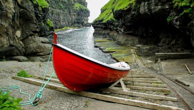 Лодка. Фарерские острова