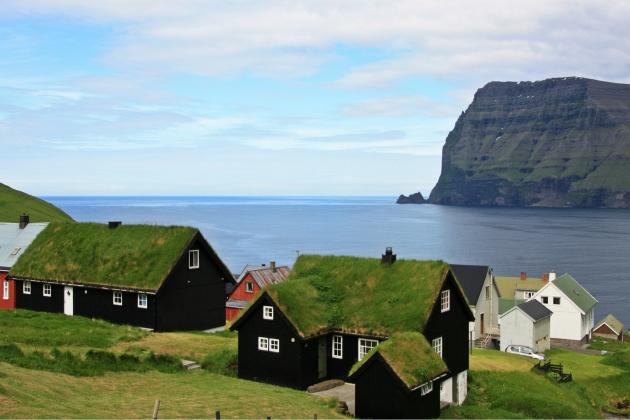 Деревня. Фарерские острова