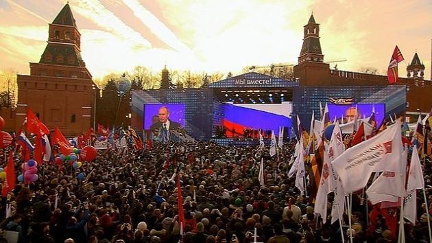 The Guardian: «Взяв Крым, Путин заявил о восстановлении величия России»