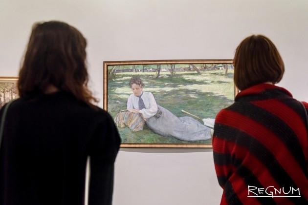 У работы Егише Тадевосяна. Портрет Жюстины.