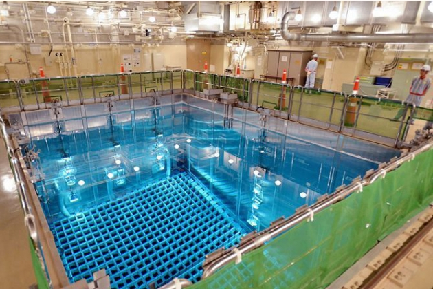Промежуточный бассейн для ОЯТ на третьем энергоблоке АЭС «Иката»
