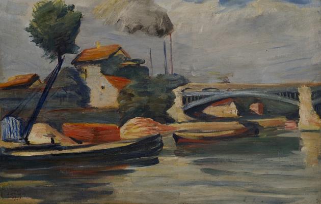 На берегу Марны. Мартирос Сарьян. 1927