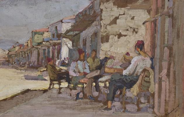 Батуми. На набережной. Ованнес Тер-Татевосян. 1913