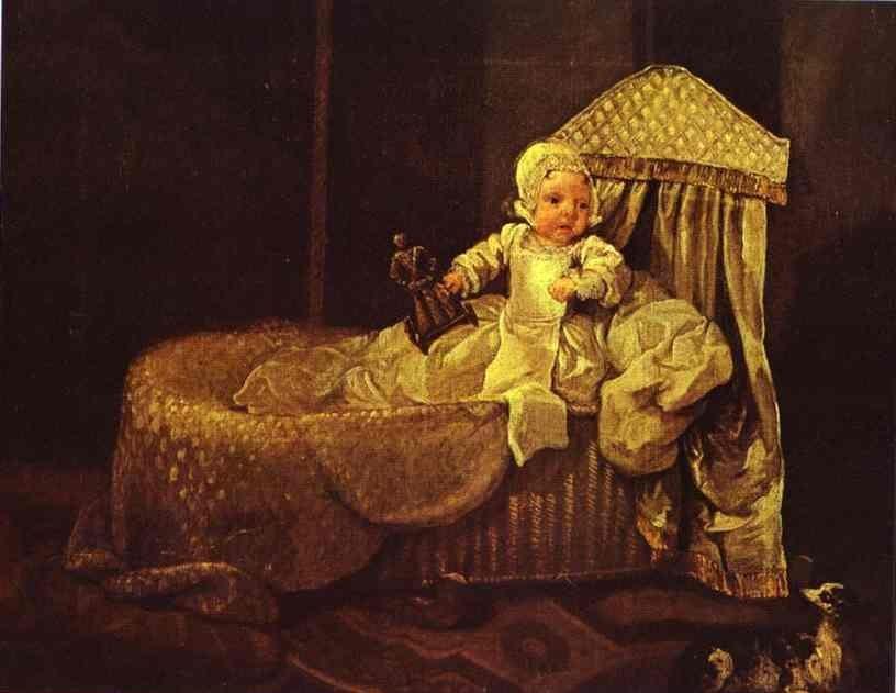 Жерар Энн Эдвардс. В Своей Колыбели. 1733