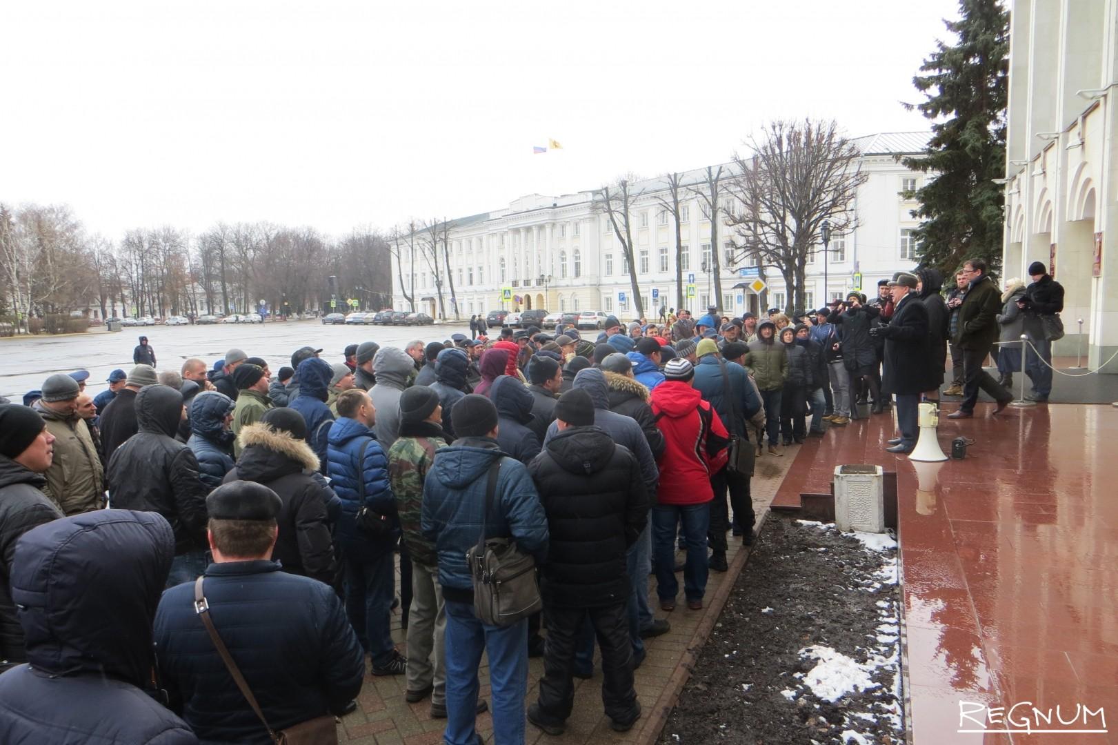 Акция дальнобойщиков в Ярославле